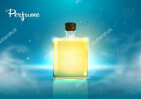 3D Perfume Mock-Up Vector