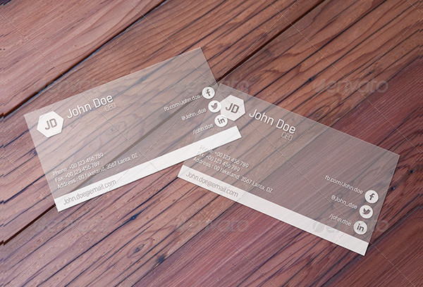 Photorealistic Transparent Business Card