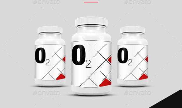 Realistic Supplement Bottle Mock-ups