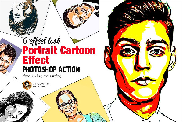 Cartoon Art Photoshop Action 21 Free Premium Download