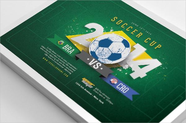 Printable Soccer Cup Flyers PSD