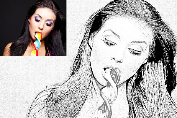 Real Pencil Sketch Photoshop Action