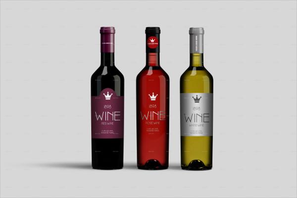 Realistic Wine Bottle Mock-up