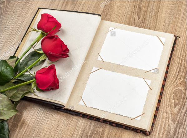 Photo Album with Roses