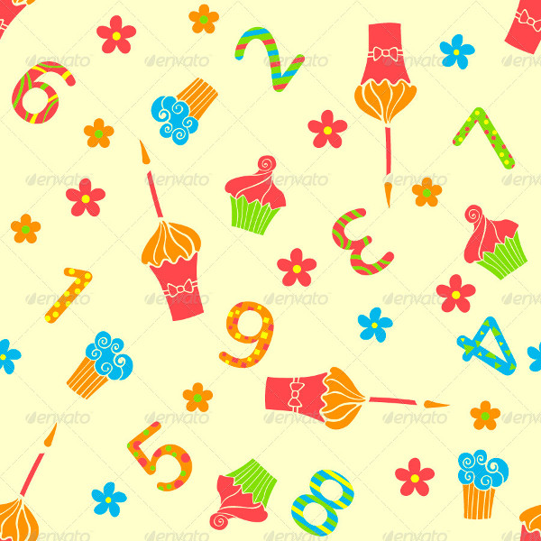 Set of Ten Happy Birthday Pattern
