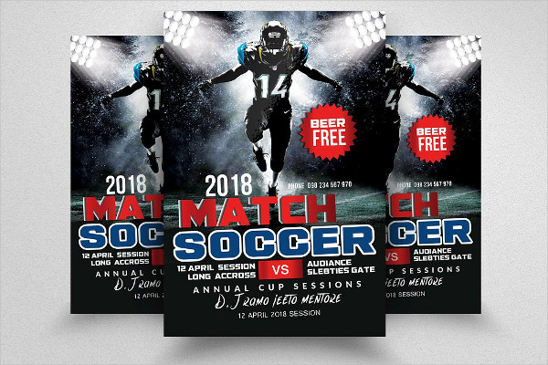 Easy to Customize Soccer Match Flyers