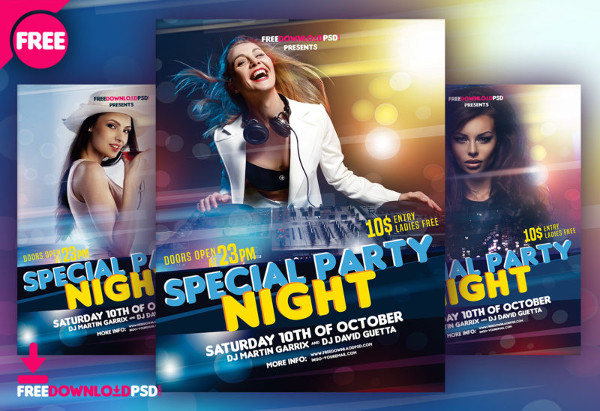 Special Party Flyer Free Download