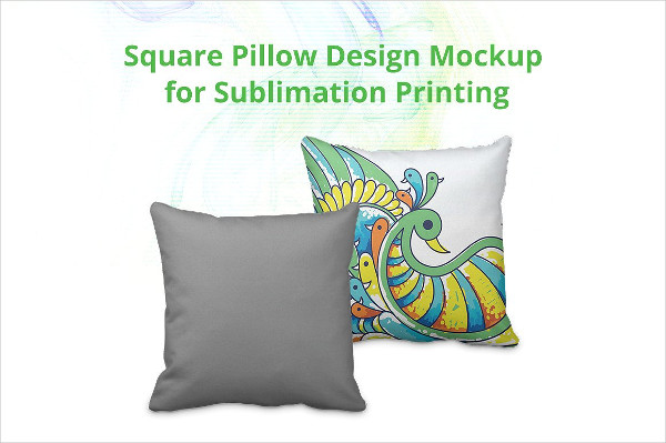 Square Pillow Cover Design Mock-up