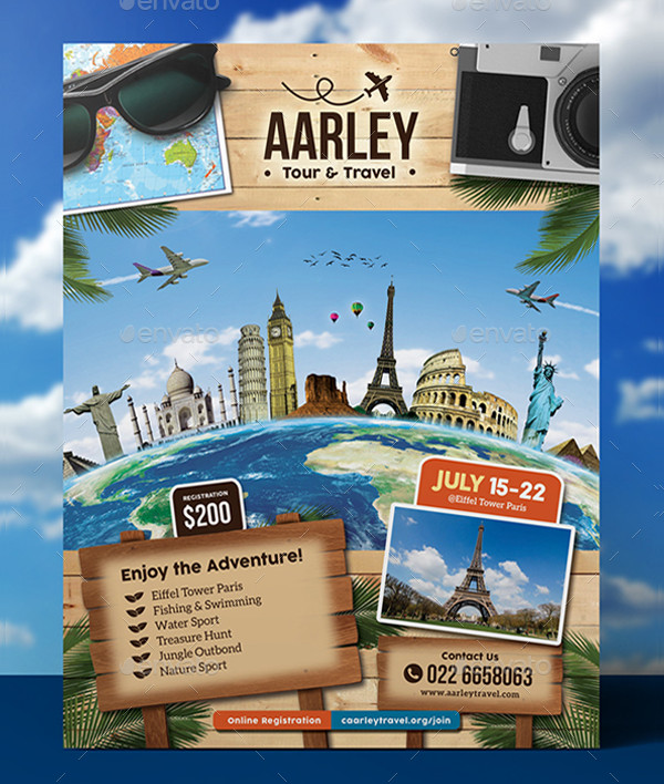 Travel Business Card & Flyer Template