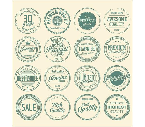 Vintage Round Stamp Templates