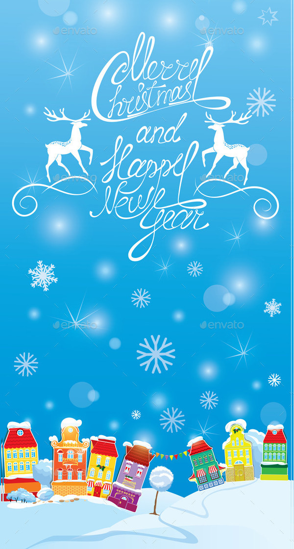 Winter Holidays Card Template