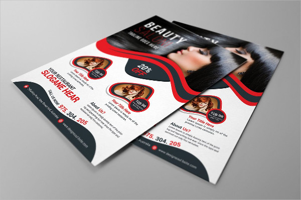Women's Beauty Salon Flyers
