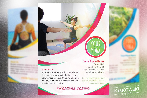 Perfect Yoga PSD Flyers Template