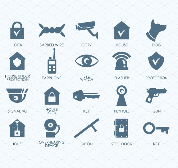 20 Security Icon Collection