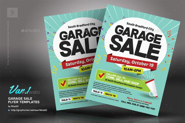 Popular Garage Sale Flyer Templates