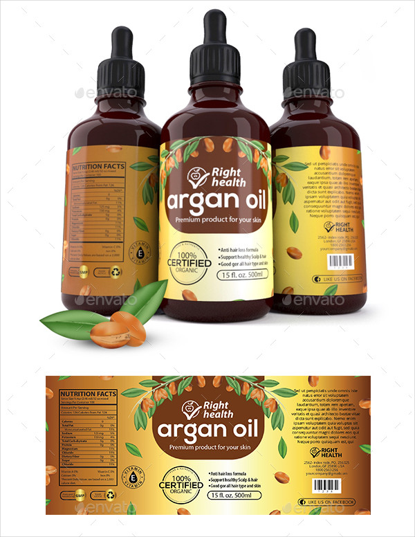 Fully Editable Oil Label Templates