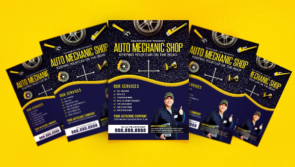 Auto Repair Flyer Templates