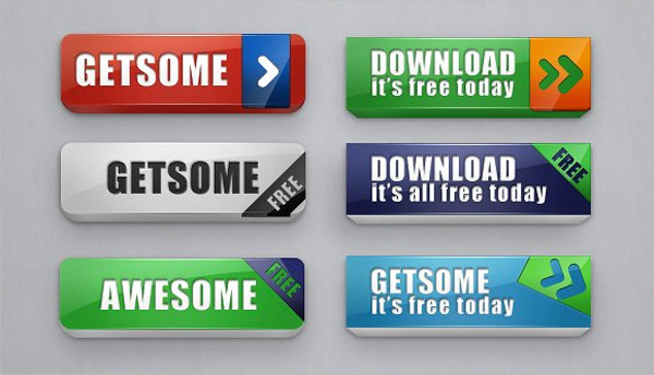 Awesome Chunky Web Buttons