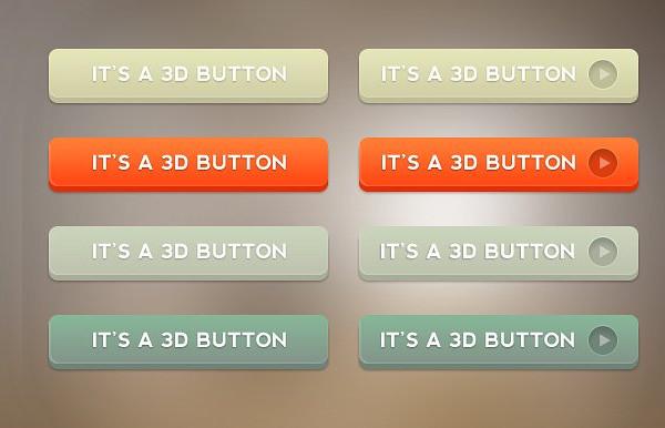 Easy to Modify 3D Button Set