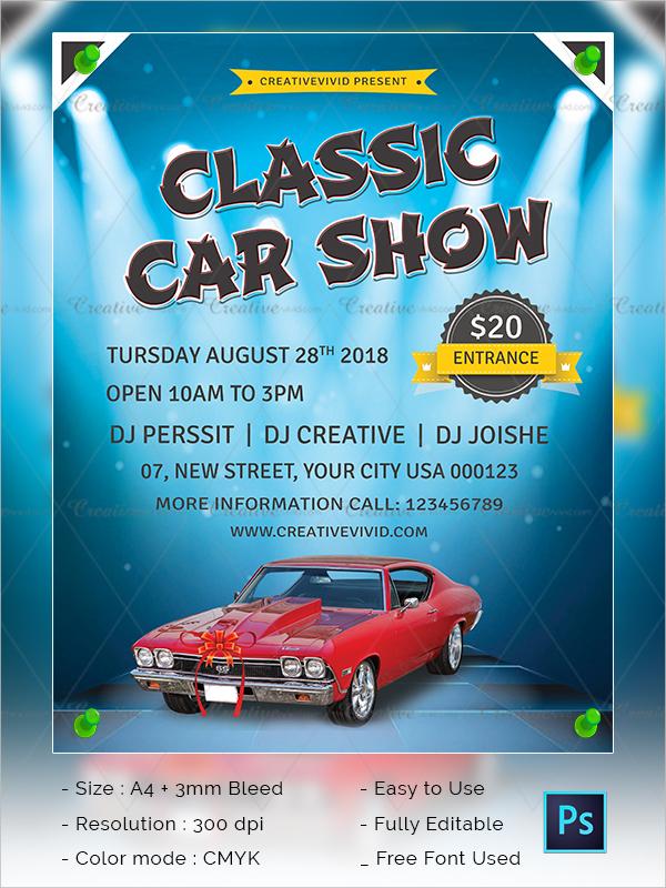 Best Car Show Flyer Design