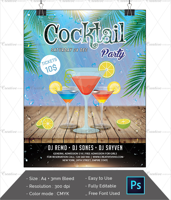 Best Cocktail Party Flyer Download