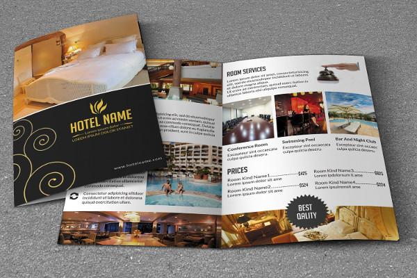 Bi-Fold Brochure Templates for Hotel Business