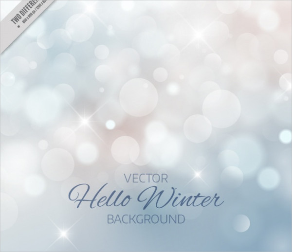 Blurred Winter Bokeh Background Free Download