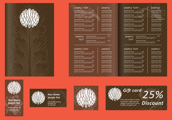 Free Brown Coffee Menu Design
