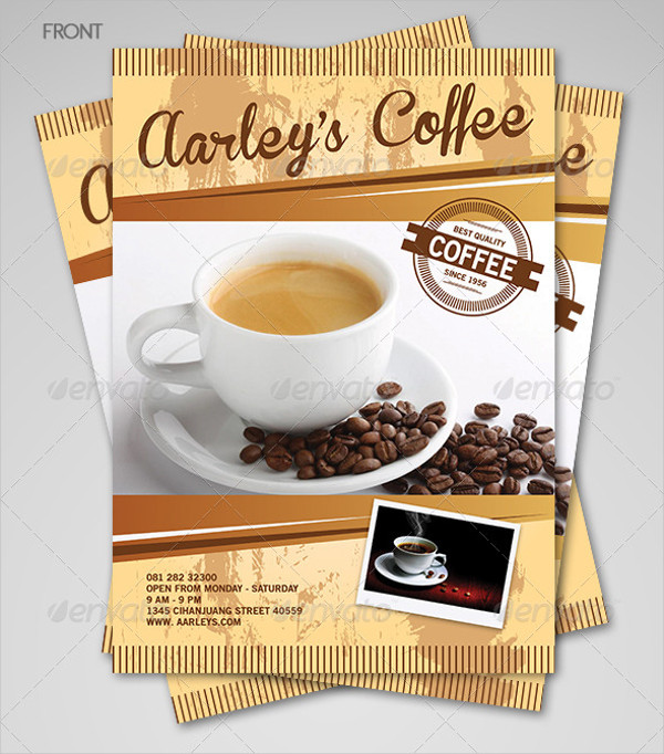Coffee Menu Flyer Designs