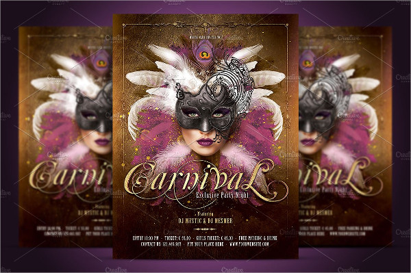 Carnival Mask Party Flyer Templates