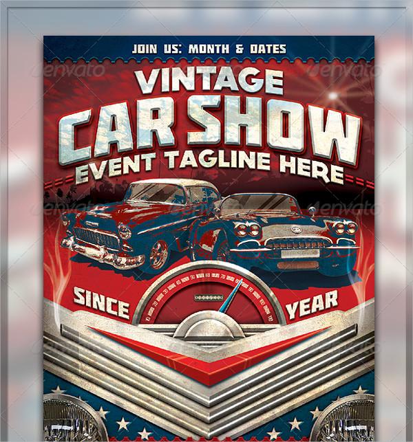 Chrome Car Show Flyer