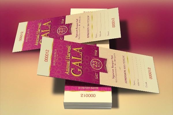 Church Gala Tickets Invitation Template