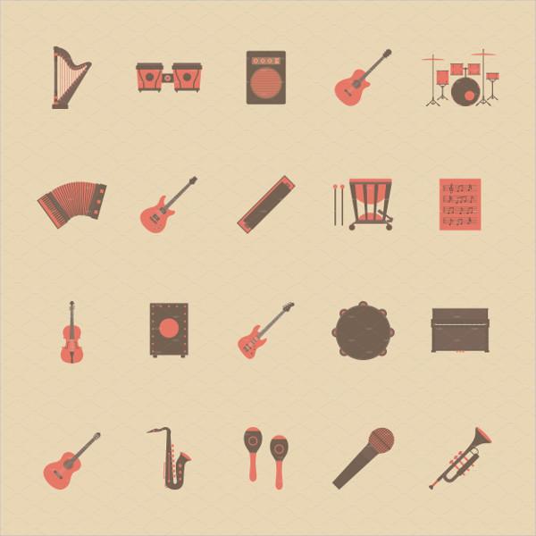 Classical Music Retro Style Icon