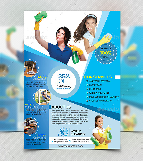 Cleaning Services Business Flyer Templates