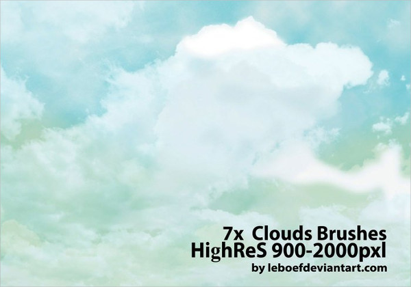 Cloud Photoshop Brushes Pack