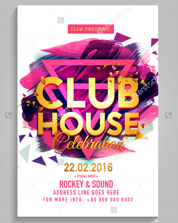 Club House Celebration Flyer Template