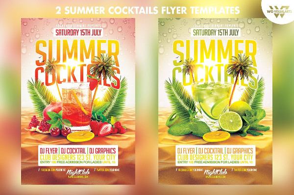 Beautiful Cocktail Party Flyer Template
