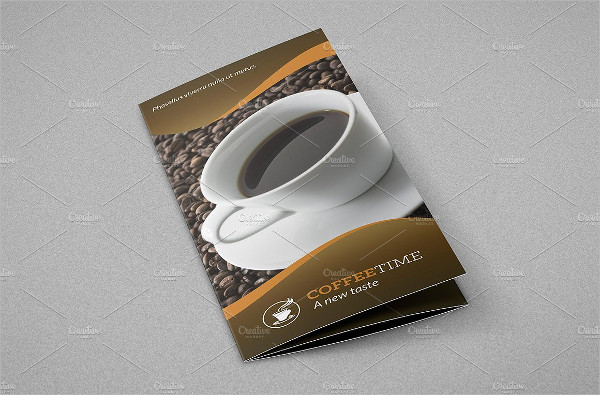 Coffee Bar Trifold Brochure Template