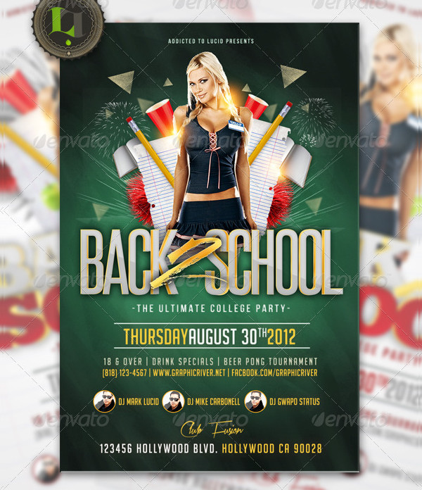 Special College Night Party Flyer Design