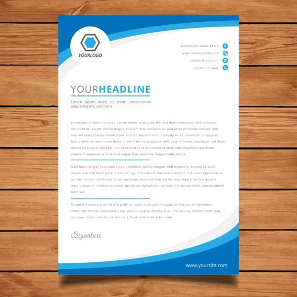 Corporate Blue Brochure Template Free Download