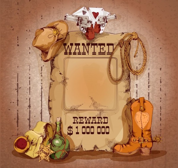 Country Wanted Man Poster Design