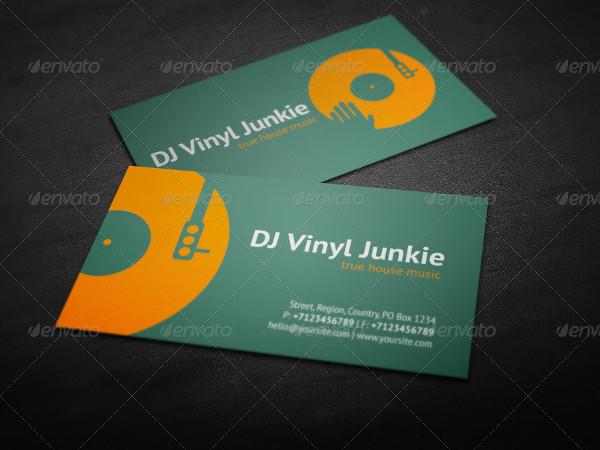 Printable DJ Business Card Design