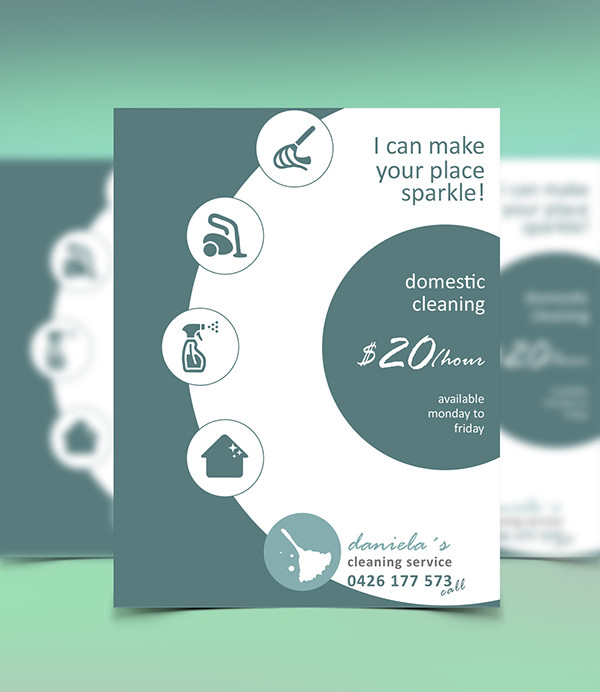 cleaning company flyers template