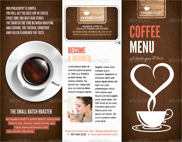 Elegant Coffee Menu Template