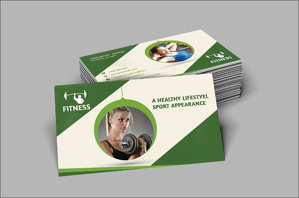 Perfect Fitness Center Business Card Templates