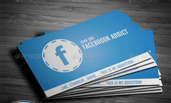 Facebook Addict - Business Card