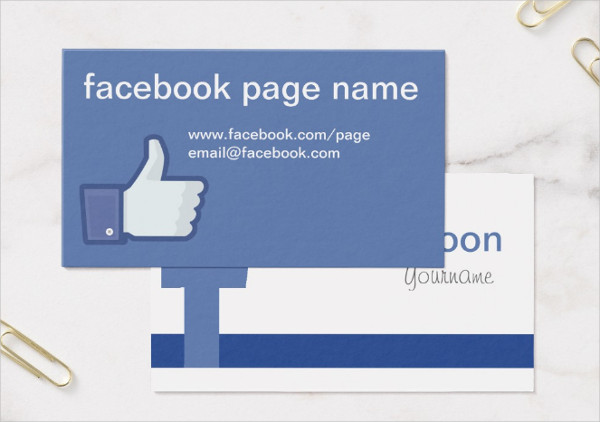 Facebook Standard Business Card