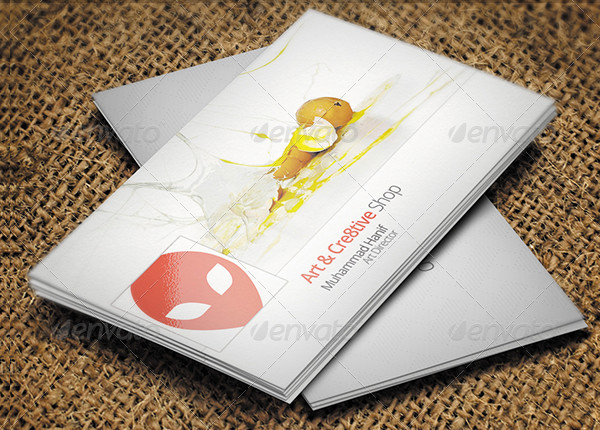 Facebook Timeline Business Card Design