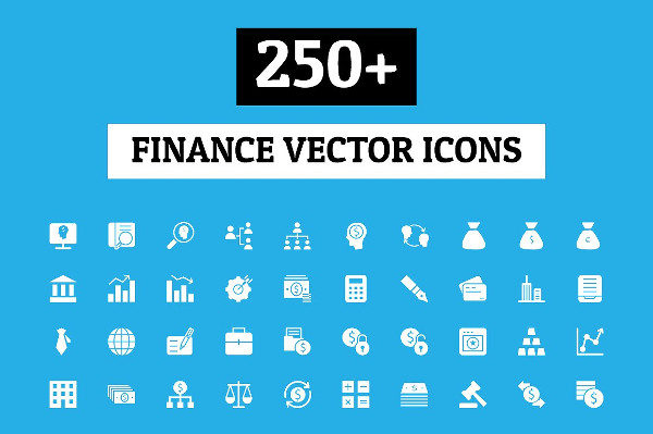 250 Finance Vector Icons Set