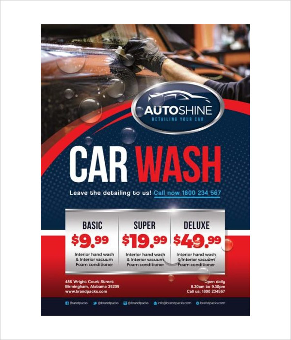 Free Car Wash Business Flyer